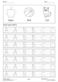 trace and practice capital letters a to z worksheets in simple writing