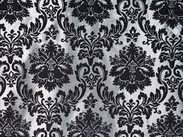 Black Drapery Fabric Damask Chenille Upholstery Drapery Fabric