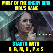 Angry Girl Meme - most of the angry bird girl s name fo am2ryl a moment to remember