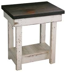 distressed white side table sookie distressed end table white rustic side tables and regarding