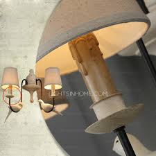 light fabric shade wall lights for country style craftsman wall