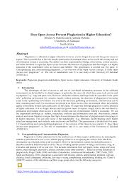 open access prevent plagiarism higher education pdf