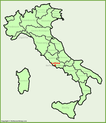 America Latina Map by Latina Location On The Italy Map