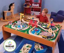 Activity Table For Kids Kidkraft Ride Around Town Train Set With Table 17836 Ebay