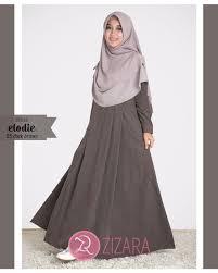 Baju Muslim Wanita gamis zizara elodie dress 05 brown baju muslim wanita baju