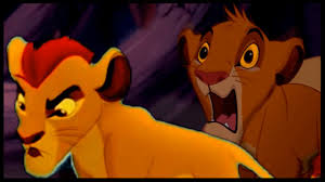kion defends simba hyenas lion king crossover