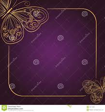 Invitation Cards Download Vintage Invitation Card On Dark Purple Background Royalty Free