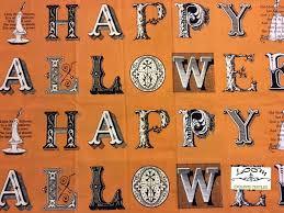 halloween sew scary happyoween large block letters diy banner