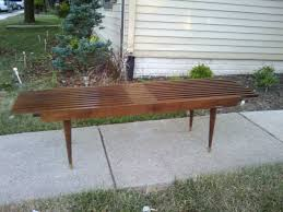 Slat Bench Vesta Vintage Sold Expanding Mid Century Slat Bench Coffee Table