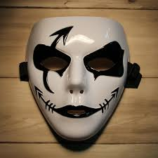 party city halloween plates fashion hip hop style mask for halloween party black white