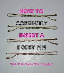 bobby pins how to use bobby pins