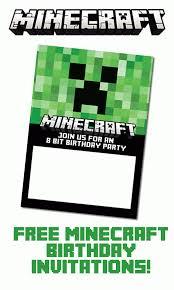free printable birthday invitations minecraft free minecraft birthday invitations just personalize and print