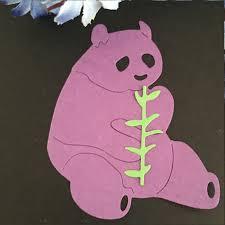 panda eat bamboo new dies metal cutting dies diy album paper card