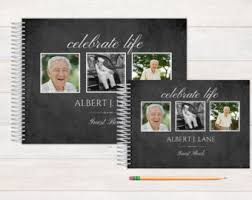 memorial guest book funeral guest book personalized funeral book in 40 color