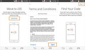 switching from android to iphone how to use move to ios app