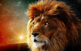 imagenes abstractas hd de animales animales león estrellas nebulosa espacio abstracto fractal de