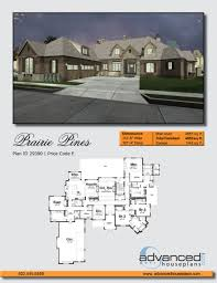 1 story french country house plan prairie pines