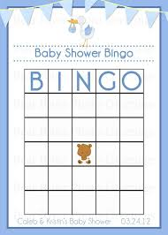 6 best images of free printable baby shower blank bingo cards