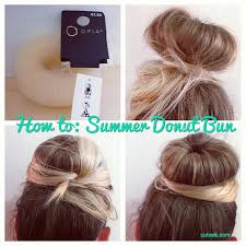 donut hair bun how to do a donut hair bun cuteek
