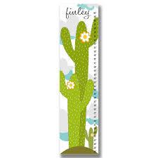 Premier Home Decor Cactus Personalized Growth Chart