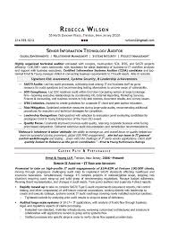 Senior Resume Template Senior It Auditor Compliance Sle Resume Resume Writer