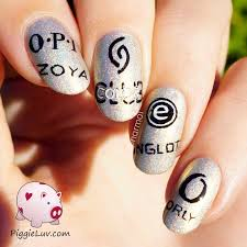 piggieluv the mainstream brands i love logo nail art