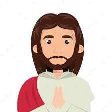 imagenes de jesucristo animado jesucristo hombre de dibujos animados vector de stock yupiramos