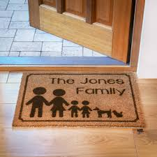personalised family doormat by laser made designs