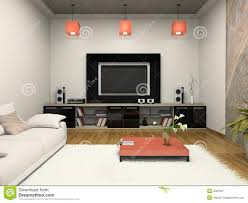 home theater modern design modern room witn home theater royalty free stock photography