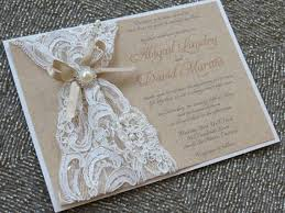 wedding invitations lace and pearl criolla brithday wedding