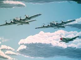 world war ii dogfight mural