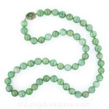 natural beads necklace images Natural burmese jadeite bead necklace jpg