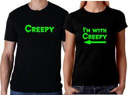 couple men women shirt creepy i u0027m with creepy halloween couple t