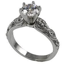 wedding set 14k gold lotus crest antique wedding set cubic zirconia rings