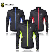 windproof cycling jackets mens wosawe mens winter cycling jackets windproof bike jerseys bicycle