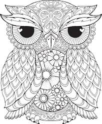Free Owl Coloring Pages For Adults Coloringstar Owl Color Pages