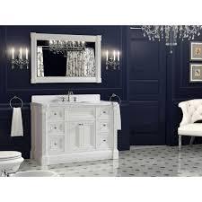 48 inch single vanity bathroom tempered glass sink cabinet combo