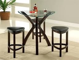 bar height glass table glass counter height dining set glass triangle counter height table