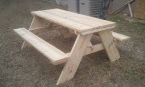 Plans For Picnic Table With Attached Benches by How To Build A 6 Foot Picnic Table Jays Custom Creations
