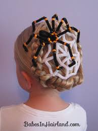 spiderweb hairstyle for halloween in hairland