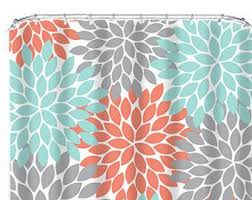 Salmon Colored Shower Curtain Best 25 Coral Shower Curtains Ideas On Pinterest Navy Shower