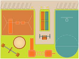 sport field plans solution conceptdraw com