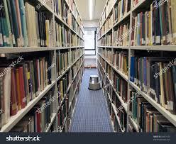bookshelves books university library stock photo 65431150