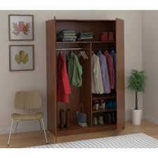 ameriwood wardrobe storage closet with hanging rod and 2 shelves