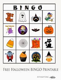 attempting aloha free halloween bingo printable for little kids