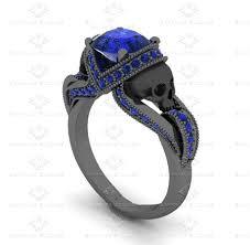 black gold sapphire engagement rings sapphire studios aphrodite 1 60 ct skull black gold engagement ring