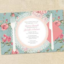 bridal lunch invitations sweet wishes vintage roses bridal brunch luncheon invitations