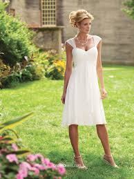 informal wedding dresses uk tea length chiffon sweetheart a line bridal dress with gathered