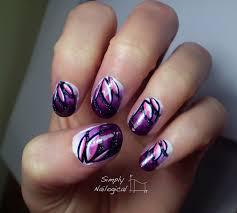 looping effect purple lotus flowers nail art by simplynailogical