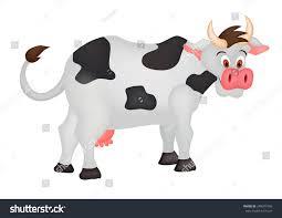 cow cartoon stock vector 248071099 shutterstock